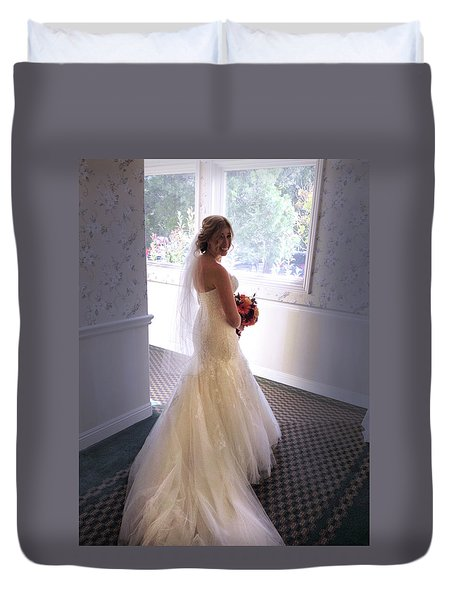 Cindy Sue Gets Married Duvet Cover