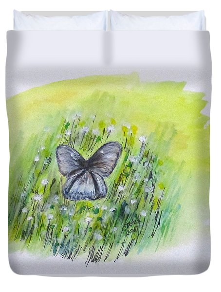 Cindy's Butterfly Duvet Cover by Clyde J Kell
