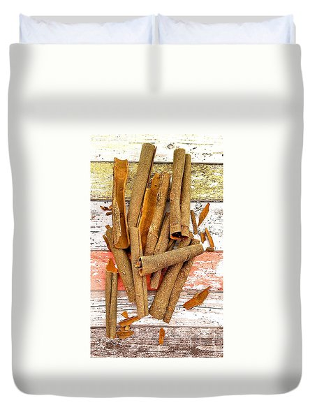 Cinnamon Bark Duvet Cover