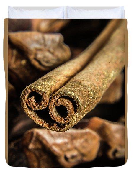 Cinnamon Heart Duvet Cover
