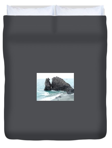 Cinque Terre Ocean View Duvet Cover