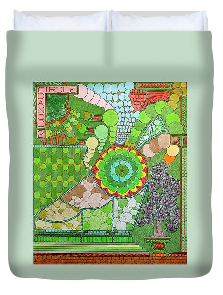 Circle Dance 2 Duvet Cover