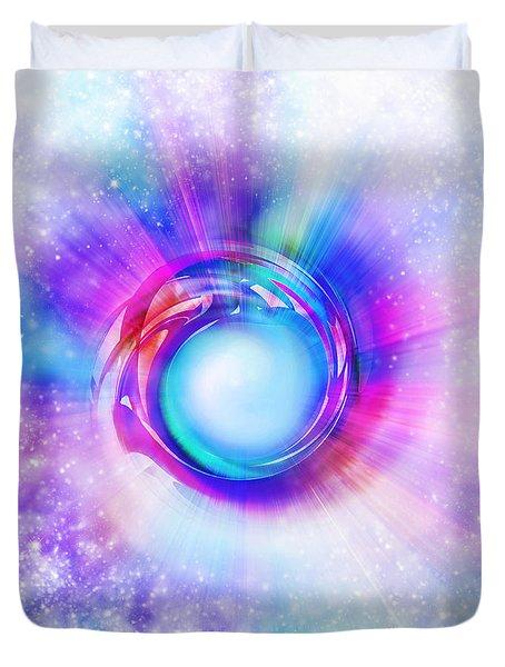 Circle Eye  Duvet Cover by Setsiri Silapasuwanchai