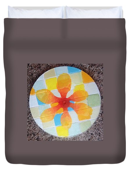 Circle For Daud Duvet Cover