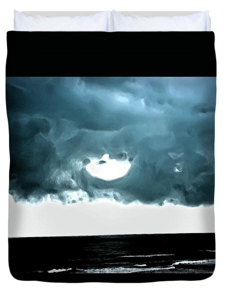 Circle Of Storm Clouds Duvet Cover