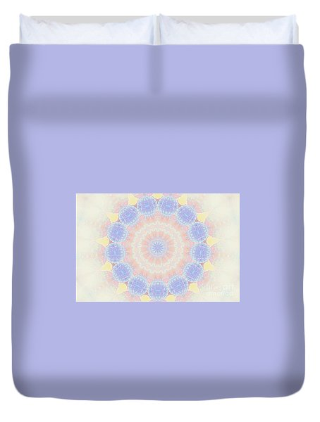 Circle Wreath Kaleidoscope Duvet Cover