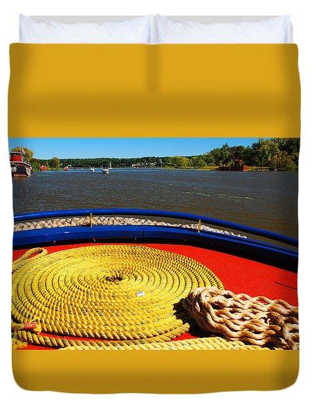 Circled Rope Duvet Cover