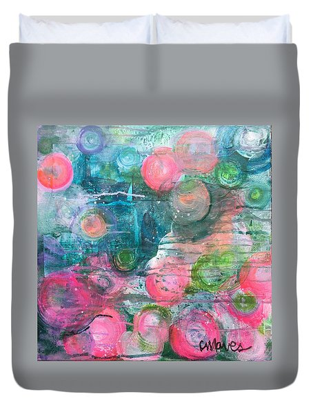 Duvet Cover featuring the painting Circles For San Marco  by Laurie Maves ART