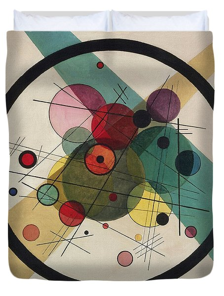 Circles In A Circle Duvet Cover by Wassily Kandinsky