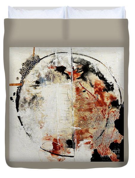 Circles Of War Duvet Cover