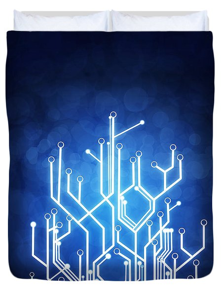 Circuit Board Technology Duvet Cover