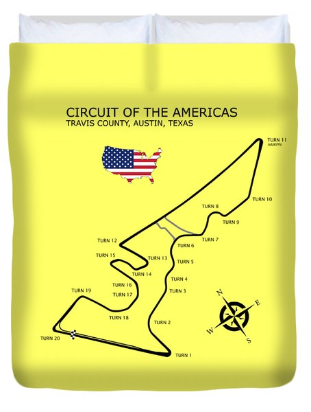 Circuit Of The Americas Duvet Cover by Mark Rogan