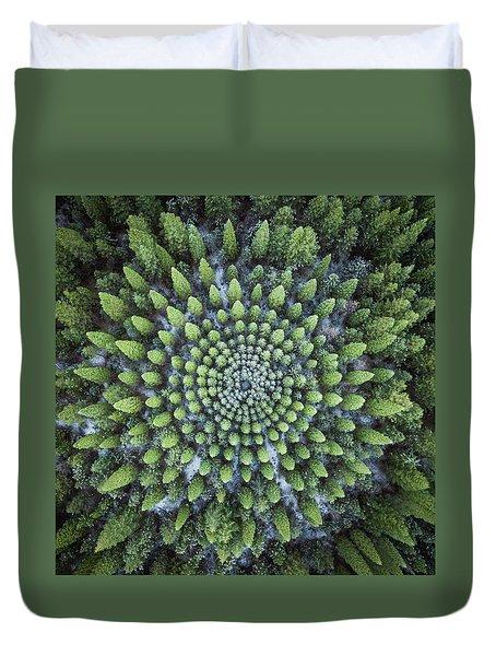 Circular Symmetry Duvet Cover