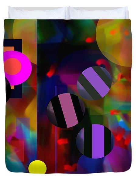 Duvet Cover featuring the digital art Circus Balls by Lynda Lehmann