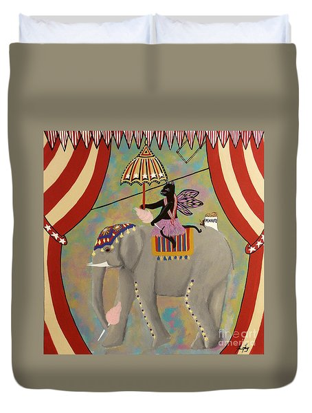 Circus Kitty's Cotton Candy Date Duvet Cover