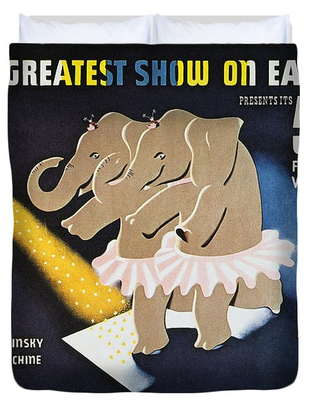 Circus Poster, 1942 Duvet Cover