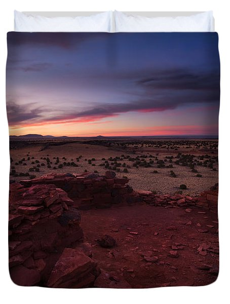 Citadel Sunset Duvet Cover by Mike  Dawson