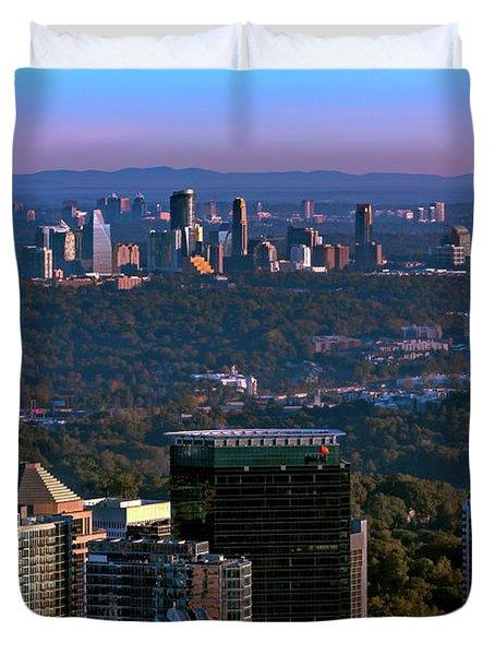 Cities Of Atlanta Duvet Cover