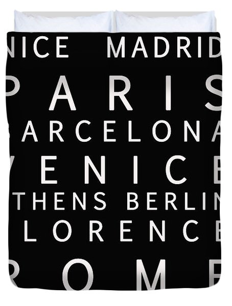 Cities Of Europe Duvet Cover by Georgia Fowler