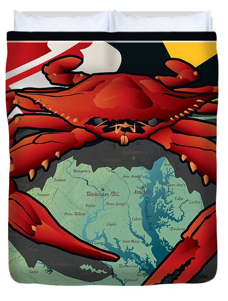 Citizen Crab Of Maryland Duvet Cover