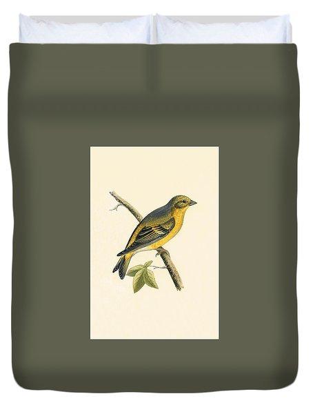 Citril Finch Duvet Cover