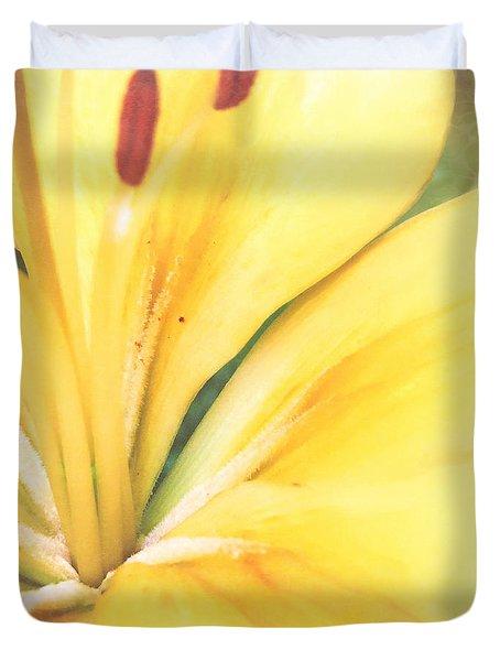 Citrine Blossom Duvet Cover