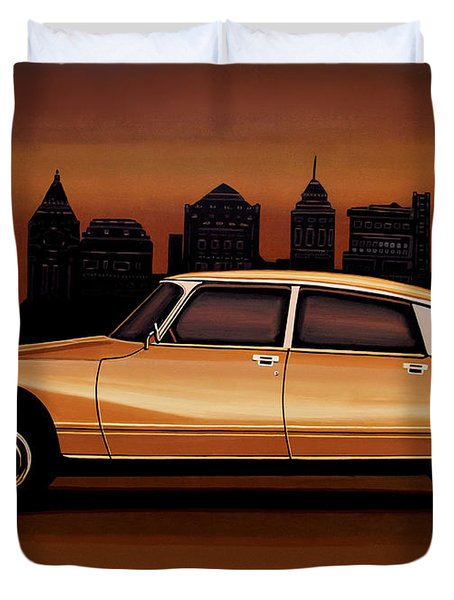 Citroen Ds 1955 Painting Duvet Cover