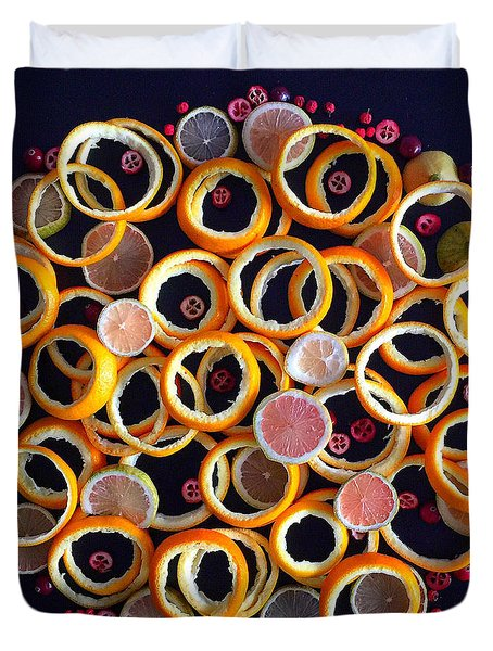 Citrus Delight Duvet Cover