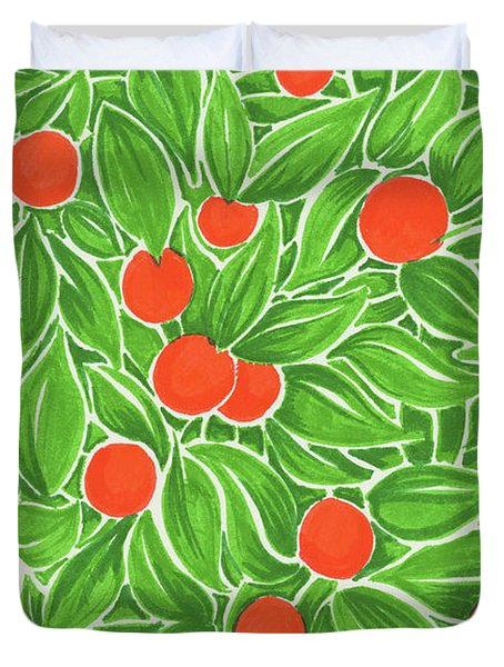 Citrus Pattern Duvet Cover by Cindy Garber Iverson