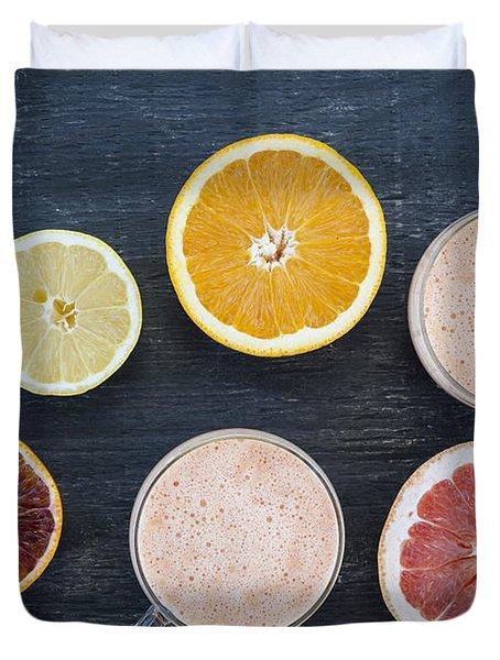 Citrus Smoothies Duvet Cover