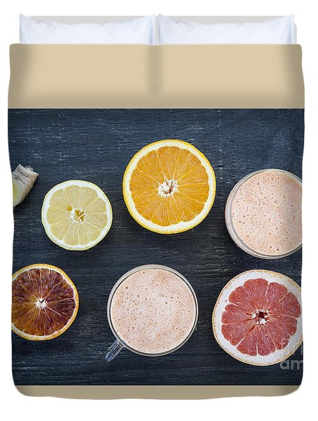 Citrus Smoothies Duvet Cover