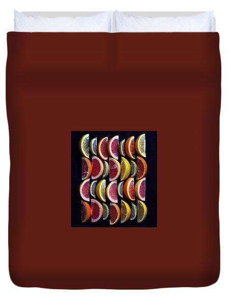 Wavy Citrus Lineage Duvet Cover
