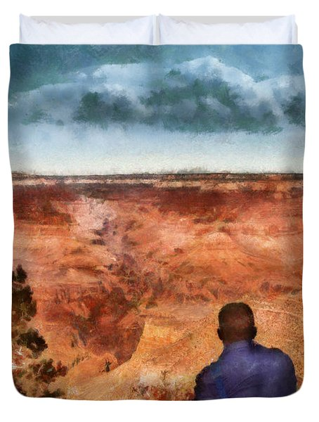 City - Arizona - Grand Canyon - The Vista Duvet Cover by Mike Savad