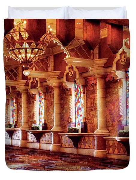 City - Vegas - Excalibur - In The Great Hall  Duvet Cover by Mike Savad