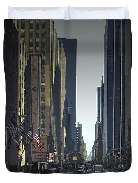 City-art 6th Avenue Ny  Duvet Cover by Melanie Viola