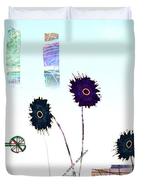 City Blooms Duvet Cover by Andy  Mercer