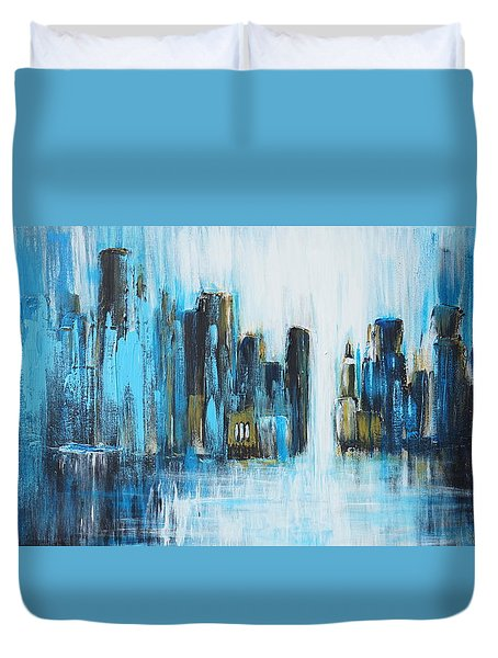 City Blues Duvet Cover