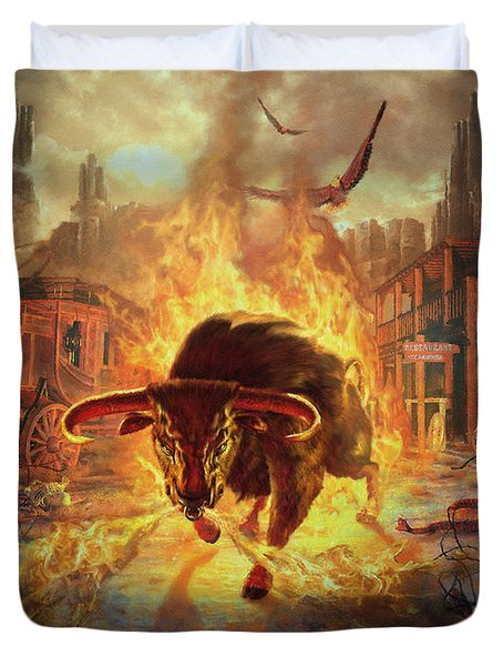City Bull City Duvet Cover