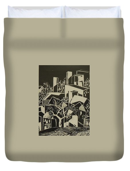 City By Moonlight - Sold Duvet Cover by Judith Espinoza