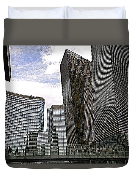 City Center At Las Vegas Duvet Cover