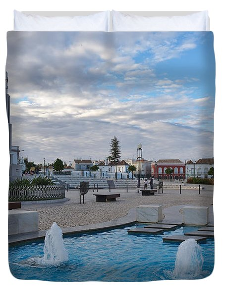 City Center Of Tavira Duvet Cover