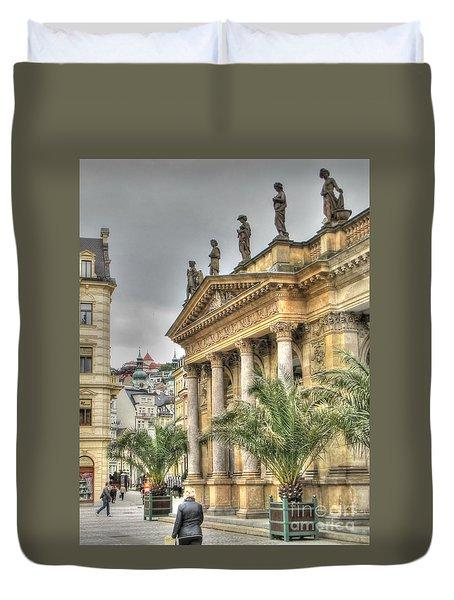 Karlovy Vary Chehia Duvet Cover by Yury Bashkin