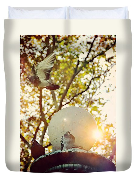 City Doves Duvet Cover by JAMART Photography