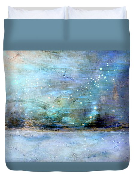 Duvet Cover featuring the digital art City Dream by Linda Sannuti