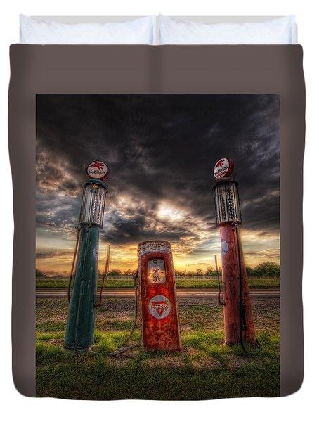 City Garage Sunset Duvet Cover