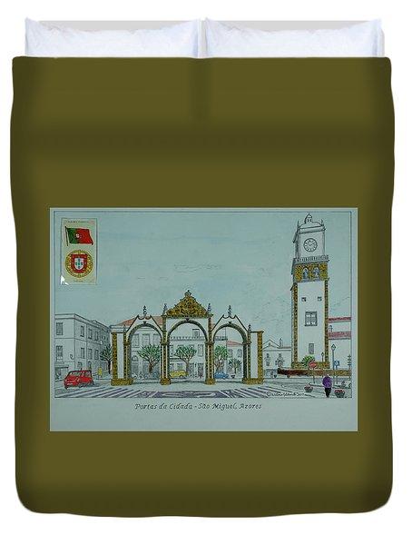 City Gates, San Miguel,azores Duvet Cover