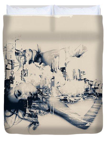 City Girl Dreaming Duvet Cover