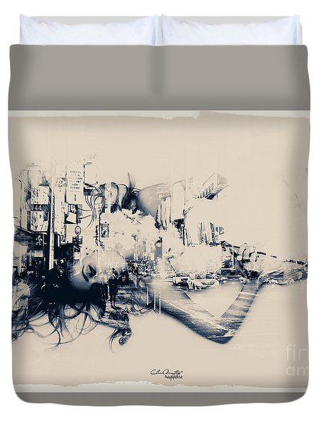 City Girl Dreaming Duvet Cover