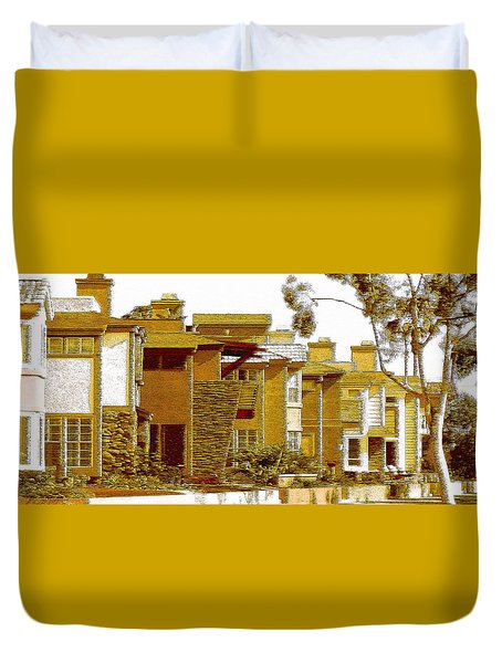 City Gold Duvet Cover by Ben and Raisa Gertsberg