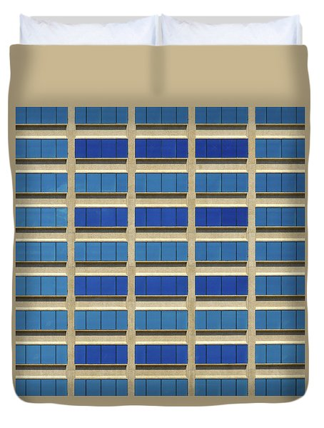 City Grid Duvet Cover
